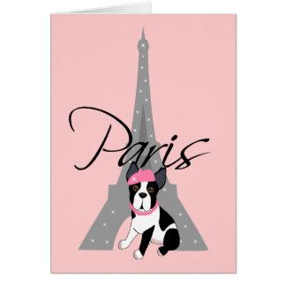 À pequeno París del Le chien Tarjetas
