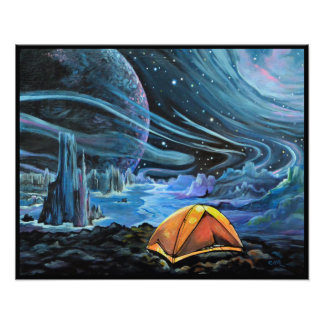 A Perfect Adventure. Camping in Space Art Print Art Photo