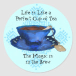 A Perfect Cup of Tea Classic Round Sticker
