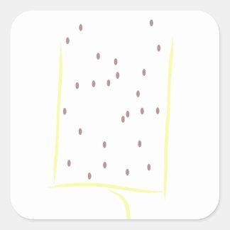 A perfect day square sticker