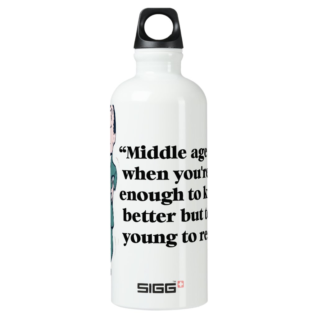 A perfect description of middle age aluminum water bottle