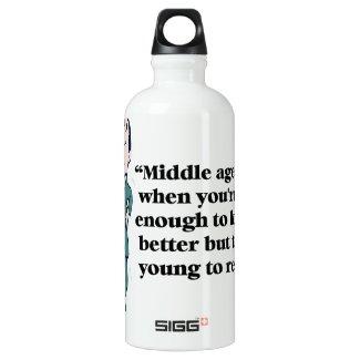 A perfect description of middle age aluminum water bottle