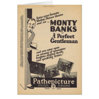 A Perfect Gentleman Monty Banks movie ad Greeting Card