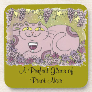 A Perfect Glass of Pinot Noir Beverage Coaster