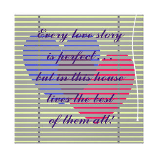 A Perfect Love Wrapped Canvas Canvas Print