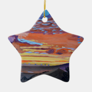 A perfect moment in time Double-Sided star ceramic christmas ornament