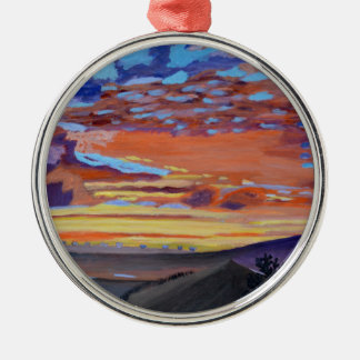 A perfect moment in time round metal christmas ornament