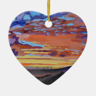 A perfect moment in time Double-Sided heart ceramic christmas ornament