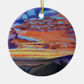 A perfect moment in time Double-Sided ceramic round christmas ornament