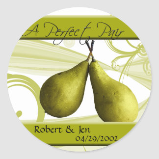 A Perfect Pair Bride and Groom Sticker