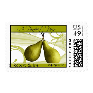 A Perfect Pair Bride and Grrom Postage Stamp