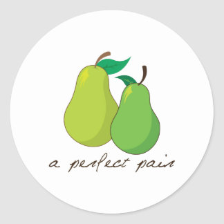 A Perfect Pair Classic Round Sticker