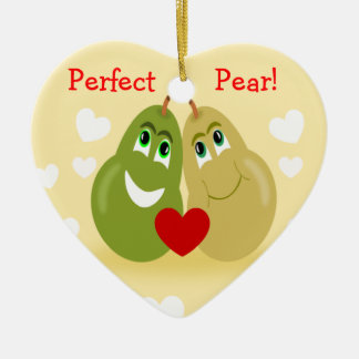 A Perfect Pear Couples Personalized Ornament