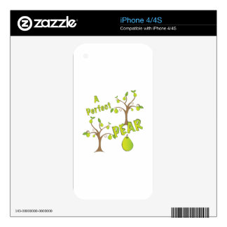 A Perfect Pear Decal For iPhone 4