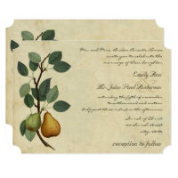 A Perfect Pear Wedding Invitations