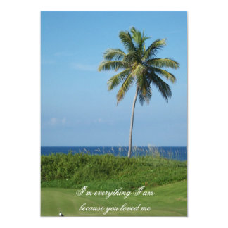 A perfect setting for a beach wedding 5x7 paper invitation card