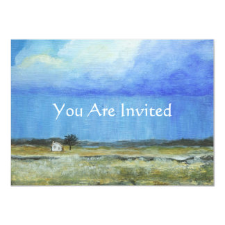 A Perfect Storm Abstract Art Landscape Painting 4.5x6.25 Paper Invitation Card