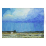 A Perfect Storm Abstract Art Landscape Painting Card