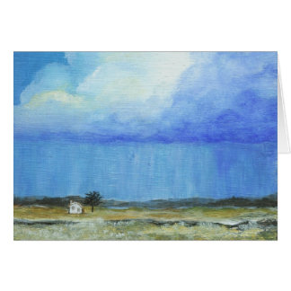 A Perfect Storm Abstract Art Landscape Painting Greeting Card