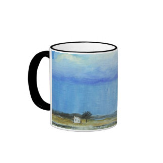 A Perfect Storm Abstract Art Landscape Painting Ringer Coffee Mug
