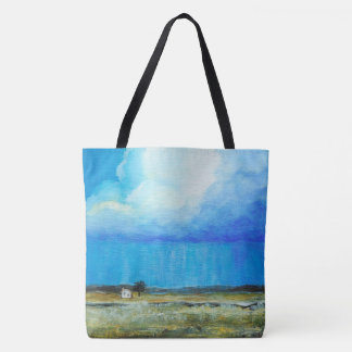 A Perfect Storm, Abstract Art Landscape Painting Tote Bag