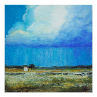 A Perfect Storm, Landscape Art Painting Large Poster