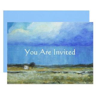 A Perfect Storm, Landscape Art Painting Shower Card