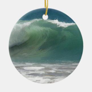 A Perfect Wave Ceramic Ornament