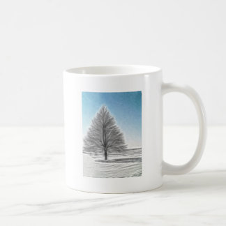 A Perfect Winter Tree Enhanced Oil Coffee Mug