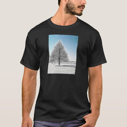 A Perfect Winter Tree Enhanced Oil T-Shirt