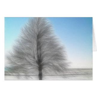 A Perfect Winter Tree Intense Card