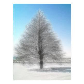A Perfect Winter Tree Intense Postcard