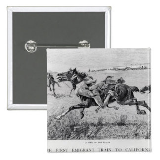 A Peril of the Plains 2 Inch Square Button