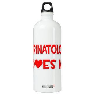A Perinatologist Loves Me Aluminum Water Bottle