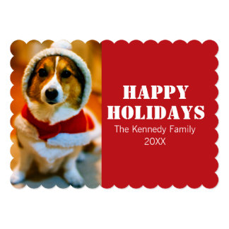 A perplexed dog in Christmastime 5x7 Paper Invitation Card