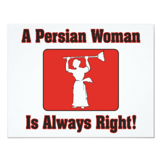 A Persian Woman Is Always Right Card