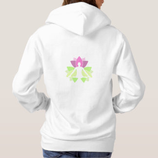 A person meditation in nature hoodie