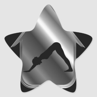 A person performing yoga star sticker