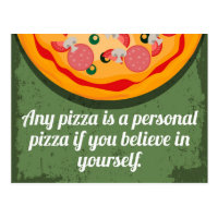 A Personal Pizza Funny Quote Postcard