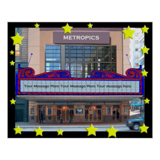 A Personalized  Movie Marquee Poster(45 character Poster