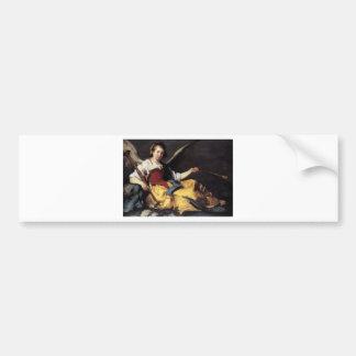 A Personification of Fame by Bernardo Strozzi Bumper Sticker
