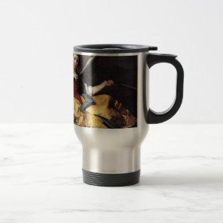 A Personification of Fame by Bernardo Strozzi Travel Mug