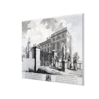 A perspective view of the Foundling Hospital Canvas Print