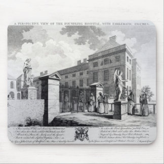 A perspective view of the Foundling Hospital Mouse Pad