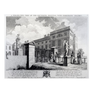 A perspective view of the Foundling Hospital Postcard