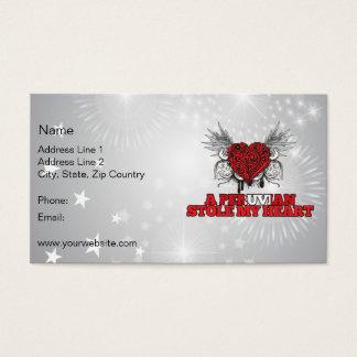 A Peruvian Stole my Heart Business Card