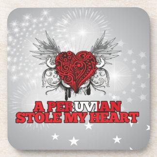 A Peruvian Stole my Heart Drink Coaster