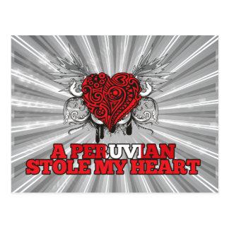 A Peruvian Stole my Heart Postcard