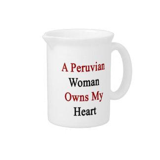 A Peruvian Woman Owns My Heart Pitchers