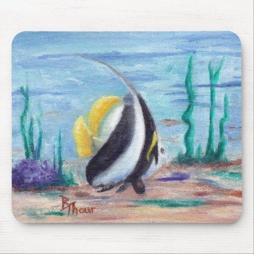 A pescado a pescado tapete de ratones